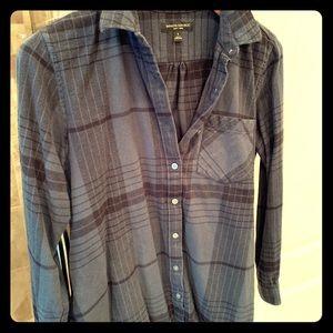 Banana Republic flannel plaid button down shirt